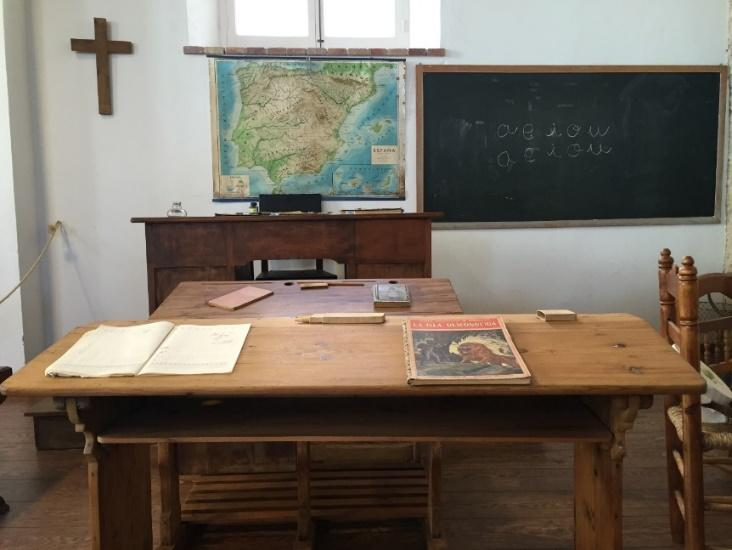 Antique Desk Table with Books on Top