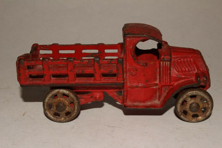 1930's AC Williams Mack Cast iron Stake Truck-2