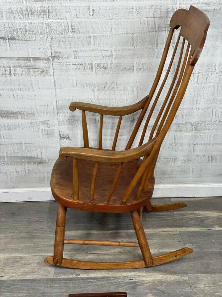 Early 1800's Boston Rocker Rocking Chair Antique