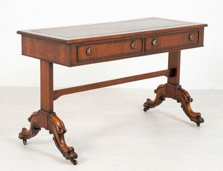 Victorian Library Table Desk Mahogany