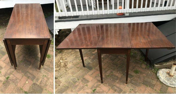 antique 3 board gate leg table Walnut