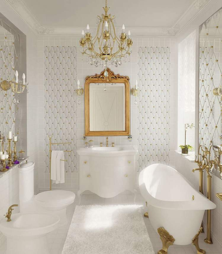 1. Hamilton Hills Top Gold Baroque Wall Mirror