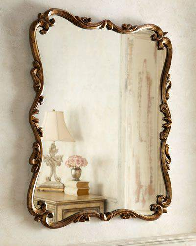 10. Chippendale-style Antique Wall Mirror