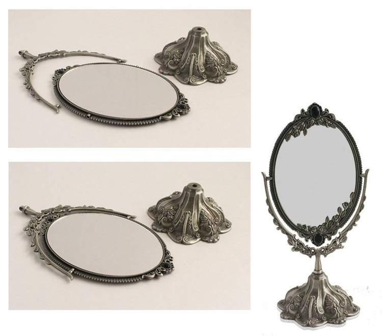 11. Luckymoo Vintage Double Face Mirror