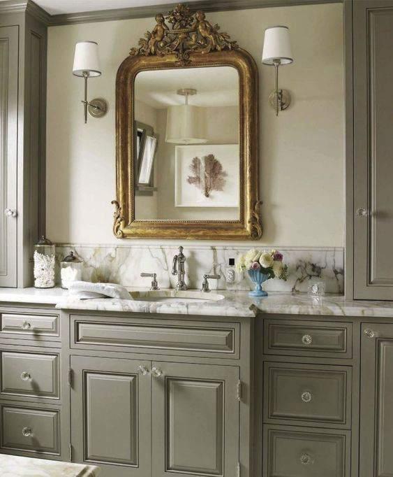 15. Antique Mirror In A Bathroom