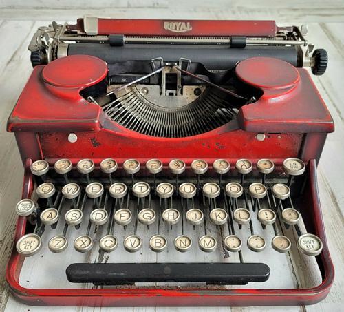 1934 Royal Model A Typewriter Red