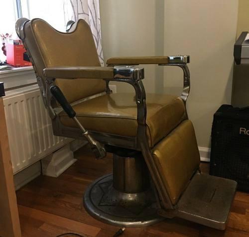 1940s Vintage F&F Koenigkramer Reliance Barber Chair