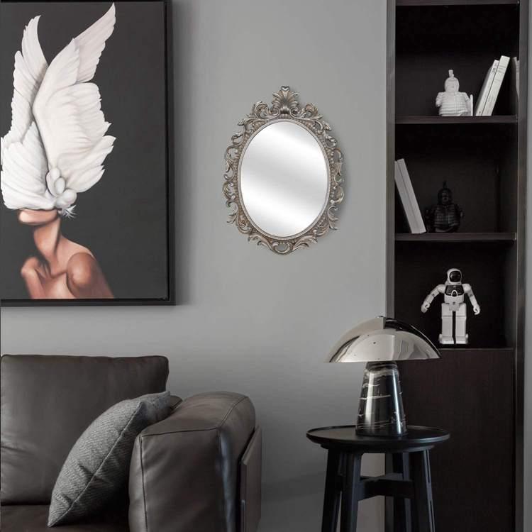 2. Simon's Shop Oval Mirror Antique Style