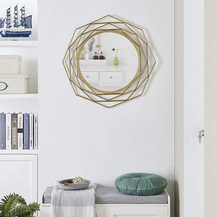 20. Wall Mounted Decorative Antique Gold Mirror