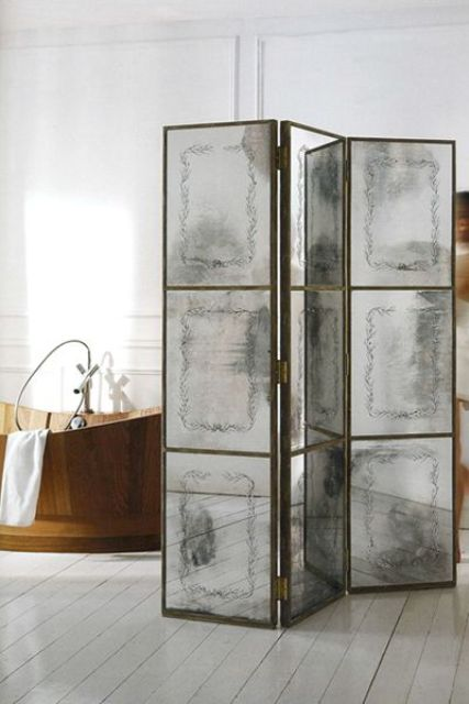 21. Refined Faded Mirror Space Divider