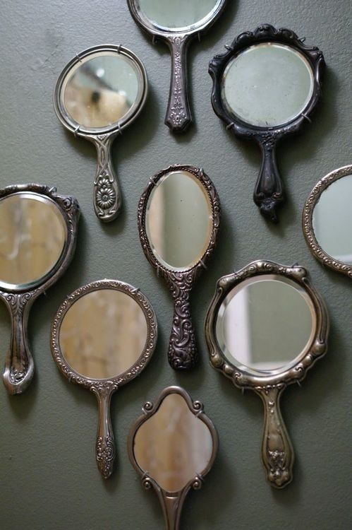 25. Decorate A Large Wall Space With Antique Mirrors