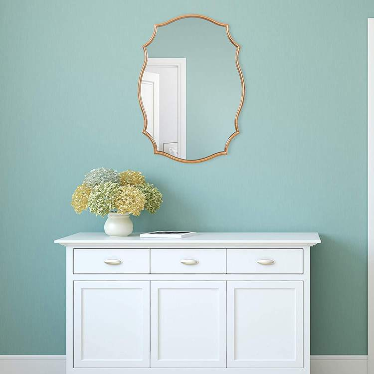 3. Gold Ornate Accent Wall Mounted Mirror