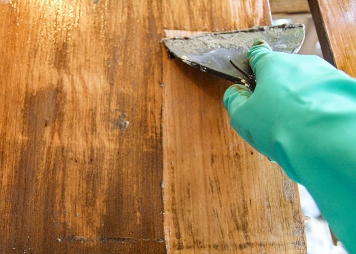 5. Stripping Old Finish Away