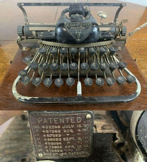 Antique 1890s BLICKENSDERFER Portable Typewriter NO 7