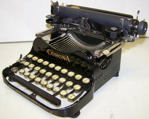 Antique 1915 Corona Model 3 Folding Vintage Typewriter