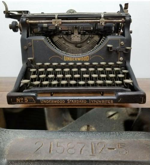 Antique 1920s Underwood Standard Typewriter