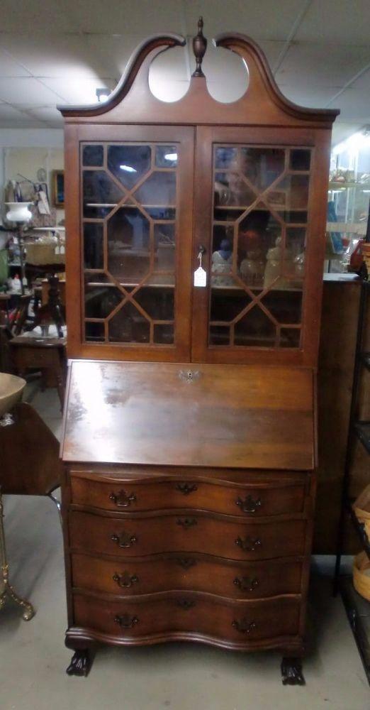Antique Bookcase Secretary