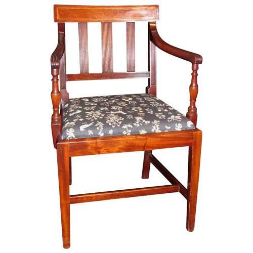 Antique English Sheraton Mahogany Dining Chairs Circa 1815 Set of 8