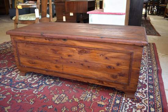Antique Solid Red Cedar Chest by Cavalier Chattanooga Tenn_little