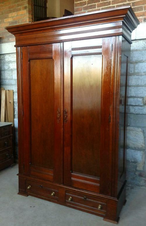 Antique Victorian Walnut Wardrobe