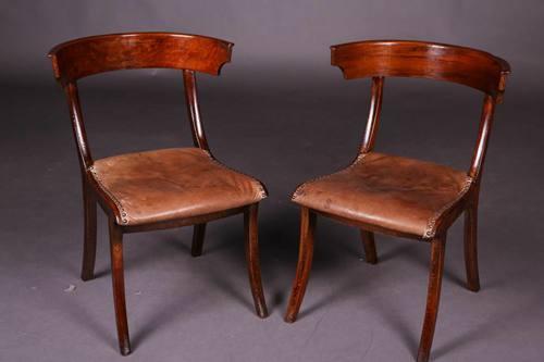 C-123 Pair Klismos Chair Empire Chair Der Greek Antique Um 1820