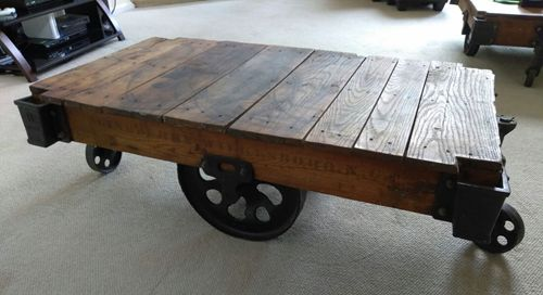 Coffee Table Lineberry Industrial Antique Vintage Furniture