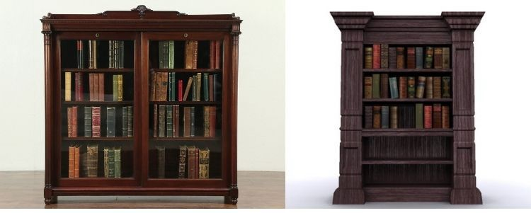 Difference Between Bookshelf & Bookcase