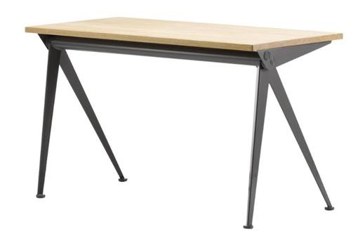 Jean Prouvé Compas Direction Desk in Wood and Metal by VitraJean Prouvé Compas Direction Desk in Wood and Metal by Vitra