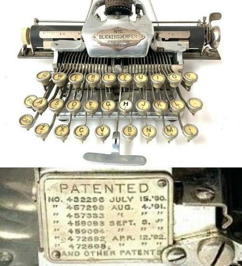 Rare 1909 ALUMINUM BLICKENSDERFER No.5 TYPEWRITER