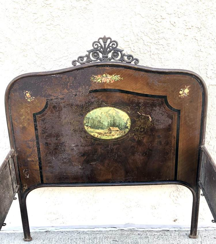 Vintage 19th Century Iron Twin Bed