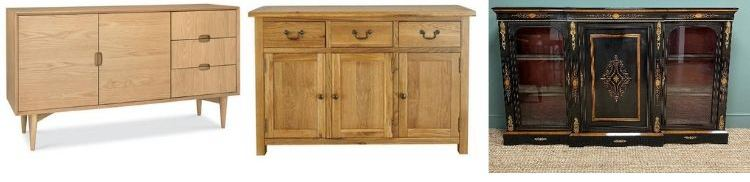 What is the difference between a Sideboard, a Buffet and a Credenza