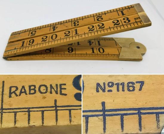 1940s Vintage Rabone boxwood ruler 2ft 24 No 1167 vintage ruler