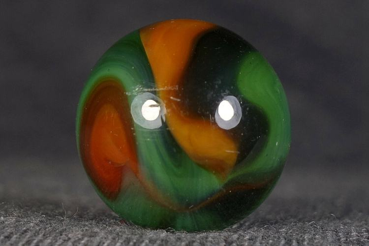 ANTIQUE ALLEY AGATE TRANSPARENT CARNIVAL SWIRL MARBLE