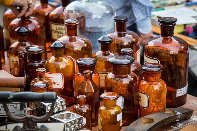 Antique Bottles Identification & Valuation Guide