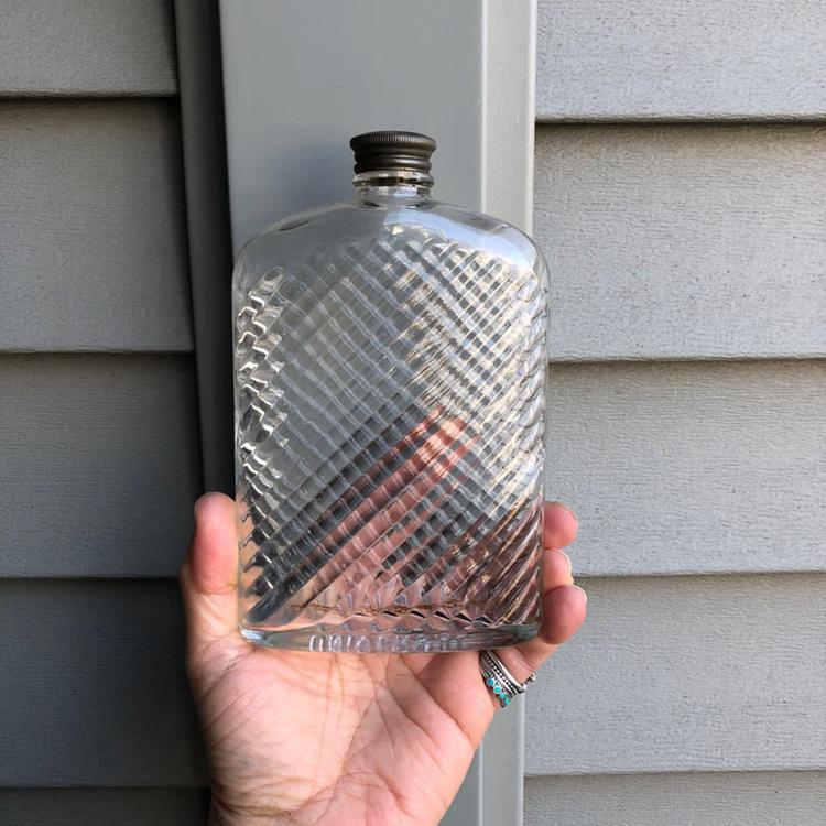 Antique Universal Glass Flask Bottle - 1927