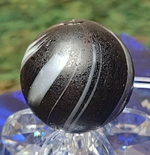 DEEP ROYAL PURPLE BANDED OPAQUE Indian Swirl JOSEPH TWIST GERMAN Marbles