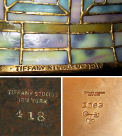 Tiffany Studios Lamp Mark