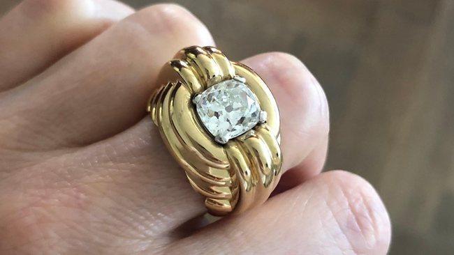 Cushion-Shape Diamond Engagement Ring