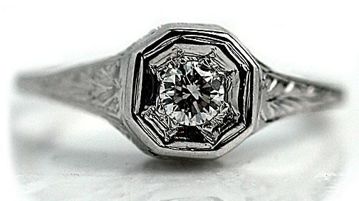 Edwardian Solitaire Engagement Ring