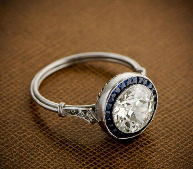 Old European Cut Diamond Vintage Ring