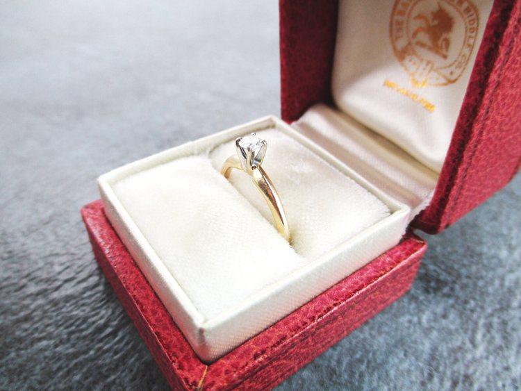 Retro 14K Gold Diamond Ring