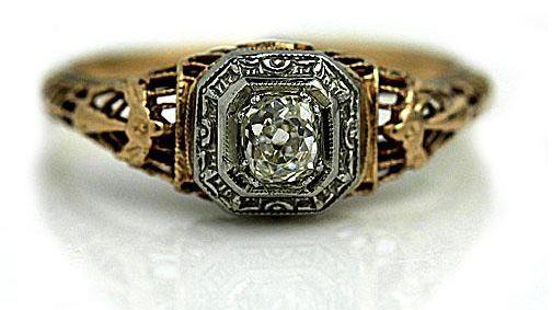 Victorian Mine Cut Diamond Ring