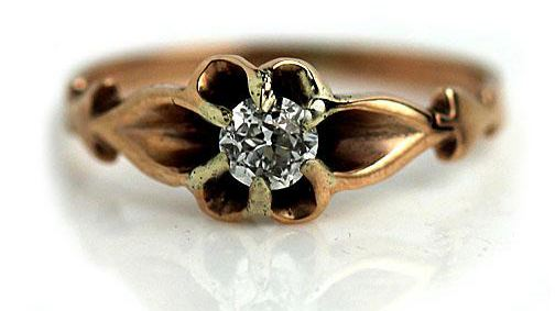 Victorian Solitaire Engagement Ring