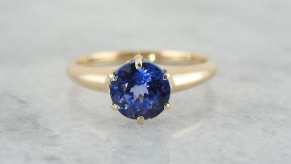 Victorian Tanzanite Engagement Ring