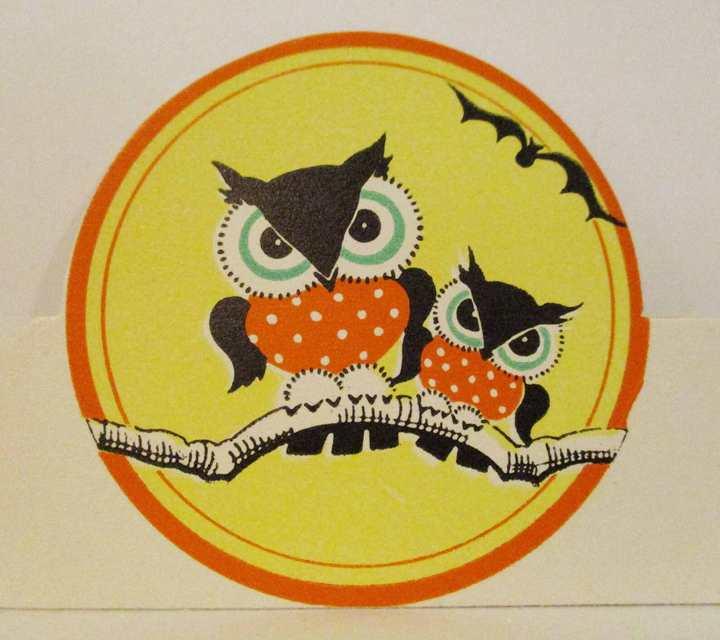 1930s Halloween Placecard