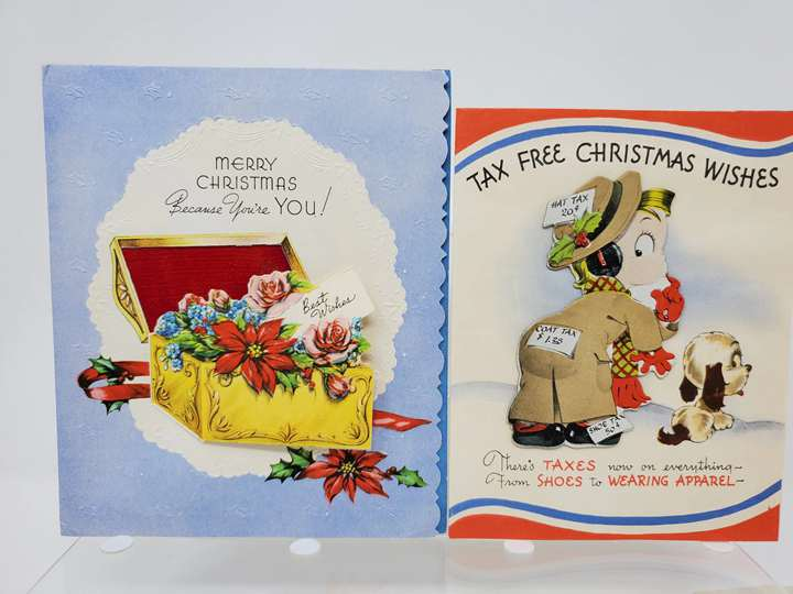 1940s Christmas Greeting Cards Package
