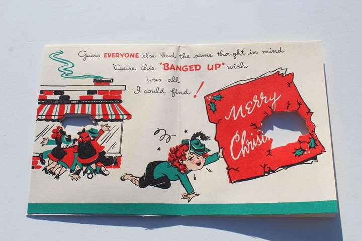 1940s Funny Christmas Card