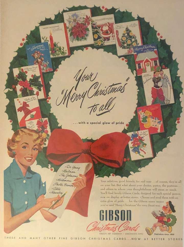 1951 Gibson Christmas Card