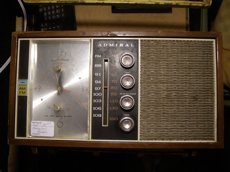 Admiral clock-radio