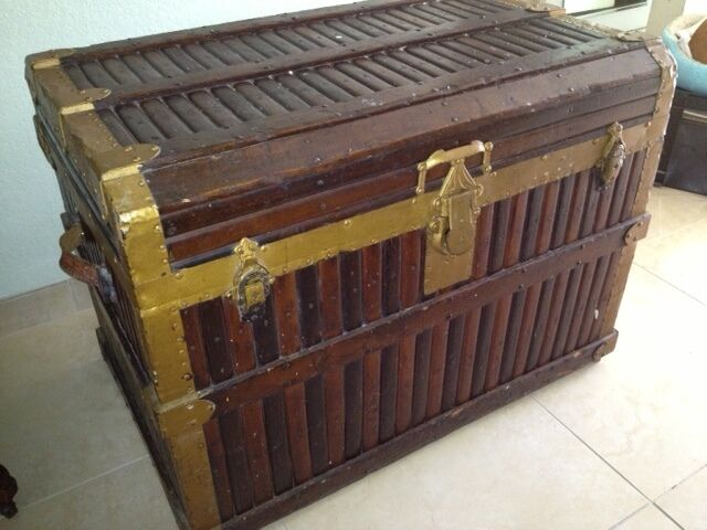 Antique Beveled Top Trunk